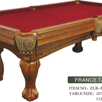 Elegantly Carved Leg Billiard Table