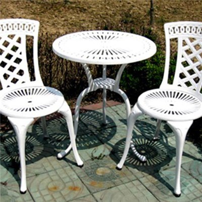 Cheap Modern Outdoor Furniture Cast Aluminum Patio Table Chairs Set