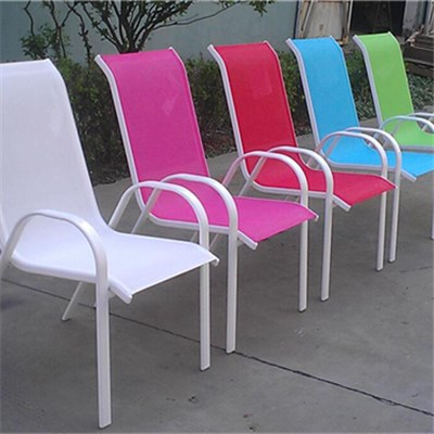 Multi Color Textilene Aluminum Steel Sling Chair For Outdoor And Garden