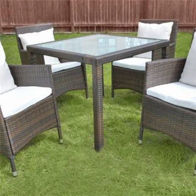 5pc Resin Wicker Dining Set For Outdoor Wicker Furniture Sets