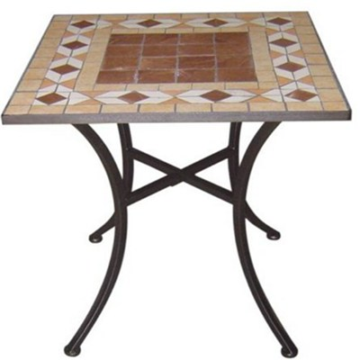 Mosaic Tile Bistro Square Coffee Table