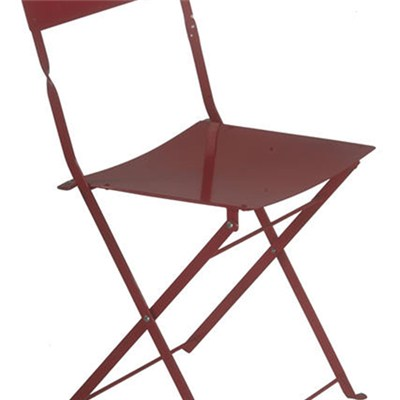 Outdoor Garden Metal Iron Bistro Folding Chair For Balcony And Restaurant
