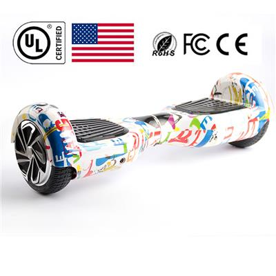 2Wheels Electric Self Balancing Scooter 6.5 Inch Classic Type UL Certificate Printing White