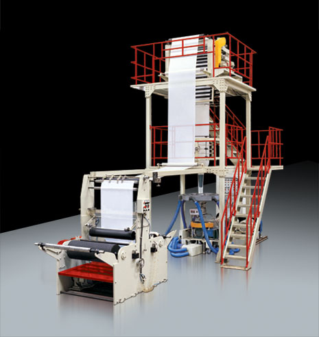 Mono-layer plastic film blowing machine