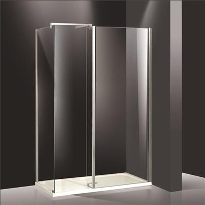 Square shower door