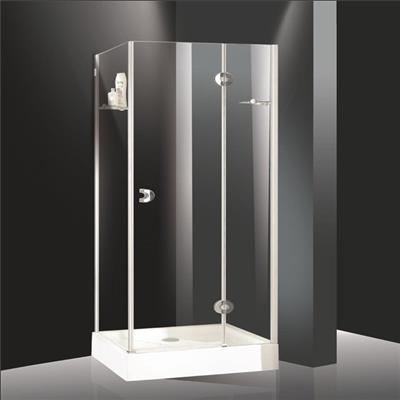 Frameless glass shower room