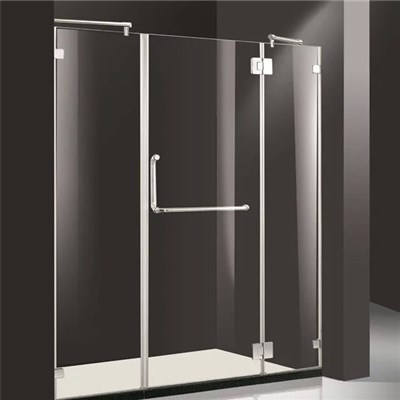 Frameless tempered glass shower cubicles enclosure
