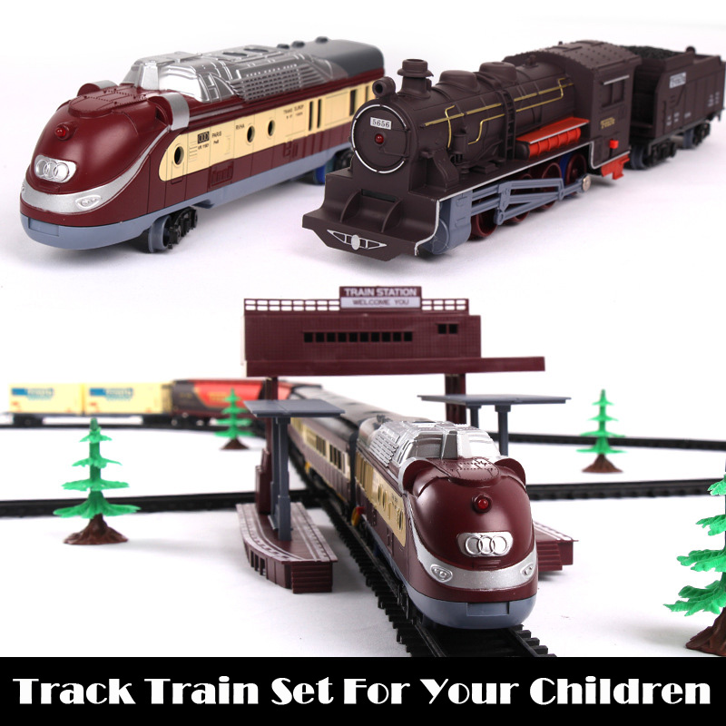 Long Track Train Set Electronic Vehicle Toy