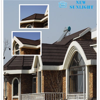 Stone Coated Metal Roofing Tiles / Color Stone Coated Steel Roofing Sheets
