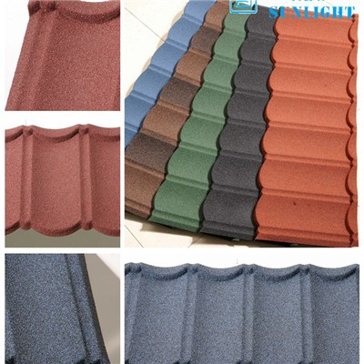 Bond Type Stone Coated Metal Roofing Tiles Roofing Sheets