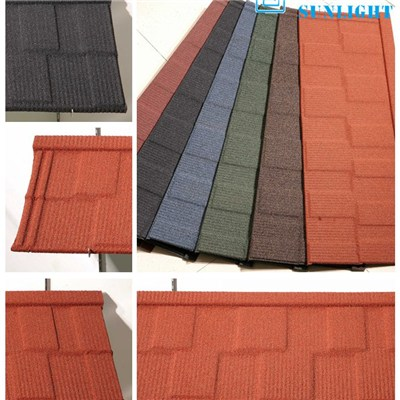 Shingle Type Corrugated Colour Stone Coated Steel Roofing Sheets Metal Roofing Materials