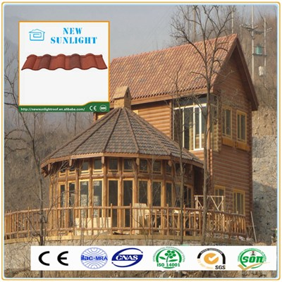 Roman Type Corrugated Color Stone Coated Steel Roofing Tiles Galvanized Steel Plate