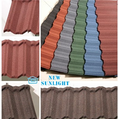 Classic Type Stone Coated Steel Roofing Tiles 、 Roofing Sheets Materials
