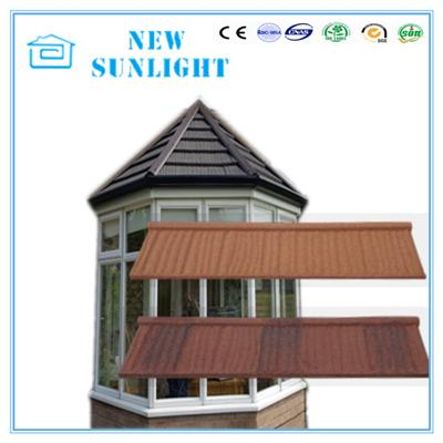 Wood Shake Type Waterproof Zinc Stone Coated Metal Roofing Tiles Roof System