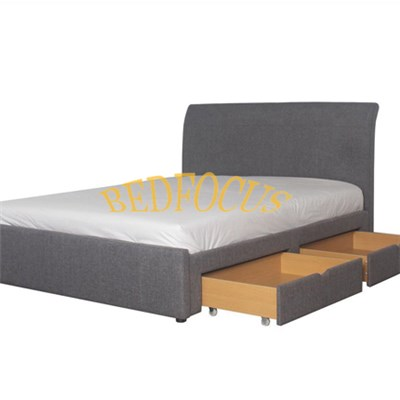 Modern Storage Fabric Bed With Two Drawers BED-F-022