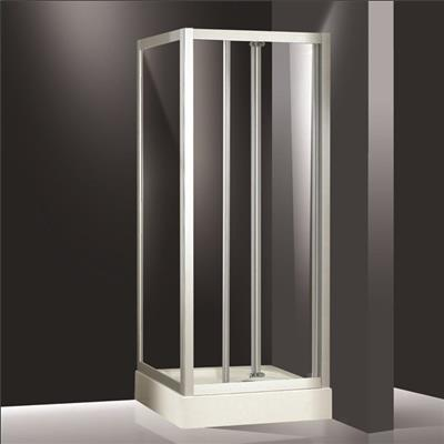 Shower enclosure with tray