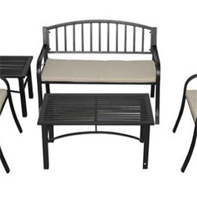 Steel Garden Bistro Set With Cushion Patio Steel Bistro Chair Set With Coffee Table