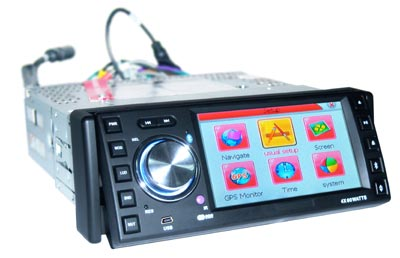 4.3 inch car dvd with bluetooth with Ipod with GPS(HL-4388G-1)