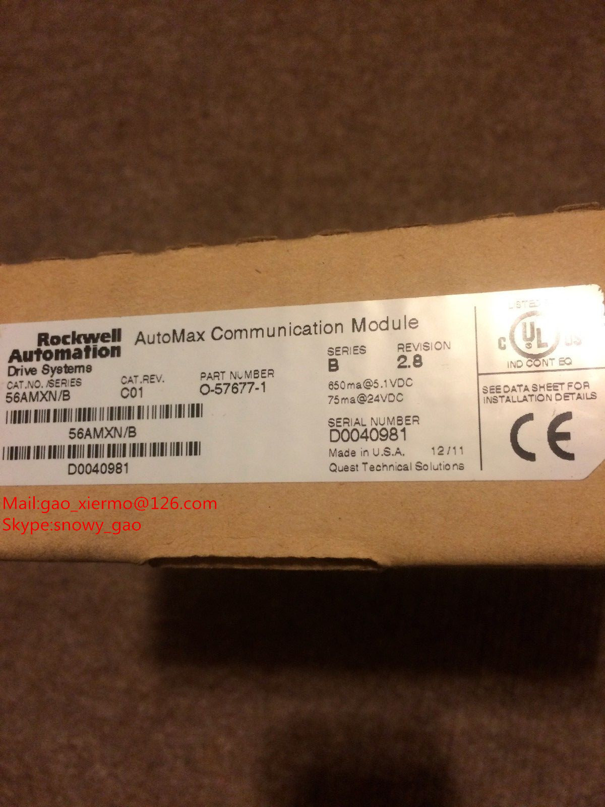 Rockwell 56AMXN/B O-57677-1 Communication module