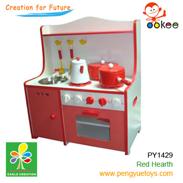 wooden kitchen playing set