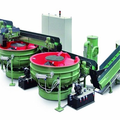 Vibratory Automatic Polishing Line Including Finishing - Cleaning - Drying - Recycling