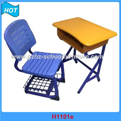 Plastic Single School Desk And Chair