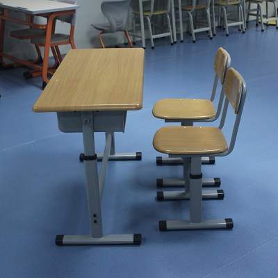 Mold Plate Double Height Adjustable School Desk Chair