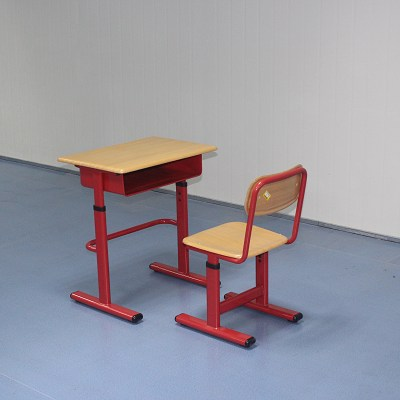 Mold Plate Single Height Adjustable School Desk Chair