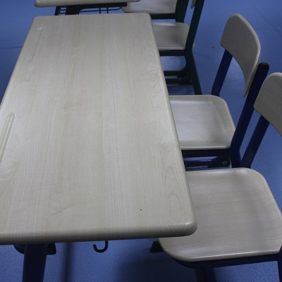 Mold Plate Double School Desk And Chair