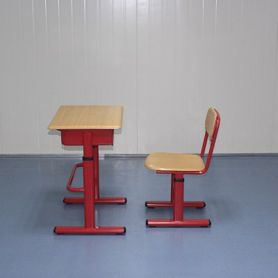 Mold Plate Single Height Adjustable School Chair