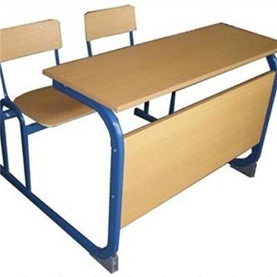 Plywood Double School Desk And Chair