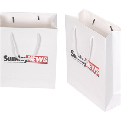 Customizable Plain White Square Bottom Paper Bags