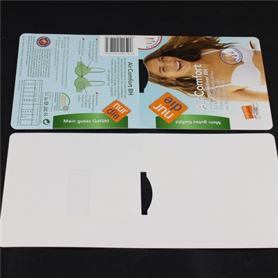 Paper Insert Card With Bi-adhesive Tape