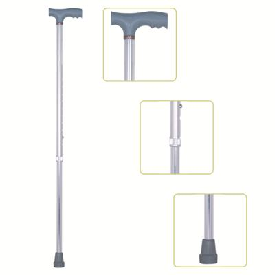 #JL920L – Height Adjustable Lightweight T-Handle Walking Cane With Comfortable Handgrip, Silver