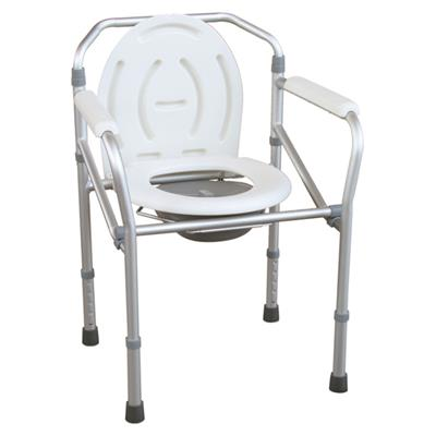 #JL894L – Aluminum Lightweight Folding Commode Chair With Plastic Armrests