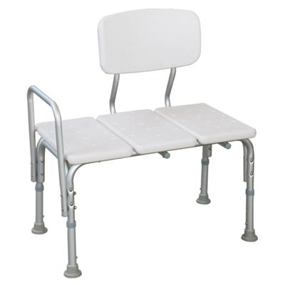 #JL799L – Adjustable Height Shower Transfer Bench With Armrests & Backrest