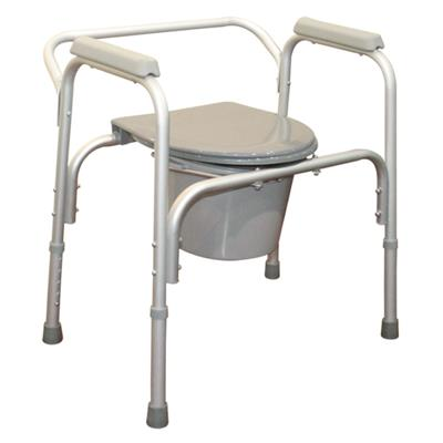 #JL8801L – Aluminum Lightweight Commode Chair With Plastic Armrests