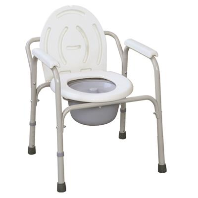 #JL810 – Powder Coated Steel Commode Chair With Plastic Armrests