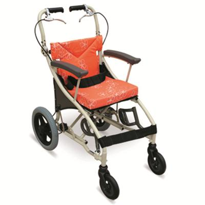 #JL1005LABJ – Comfortable Pediatric Transport Wheelchair With Flip Up Footrests, Drop Forward & Back Handles & PU Casters