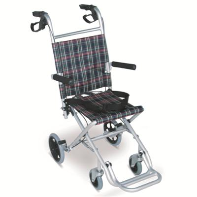 #JL9001LJ – 16 lbs. Ultralight Child Transport Wheelchair With Flip Back Armrests & Foldable Footrests