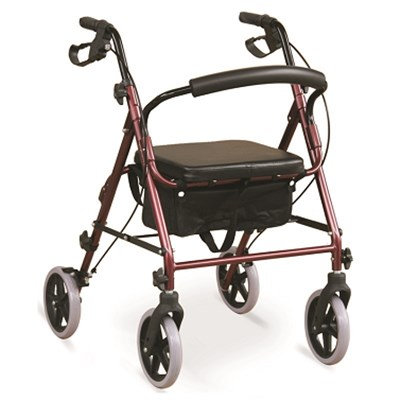 #JL965LHQ – Lightweight Rollator Walker With 8 Tool-Free Detachable Casters, Shopping Bag & Loop Brakes