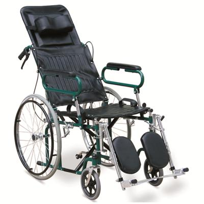 #JL902GC – Attractive Green Reclining Wheelchair With Detachable Armrests, Detachable & Elevating Footrests