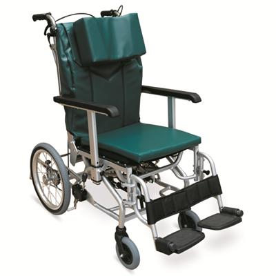 #JL1007LGJ – Attractive Green Reclining Wheelchair With Height Adjustable Armrests, Swing Away Footrests