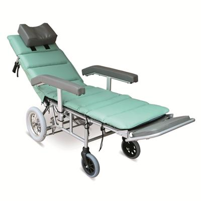 #JL1008LGJ – Attractive Light Green Reclining Wheelchair With Height Adjustable Armrests, Foldable Leg Rests With Adjustable Footrests