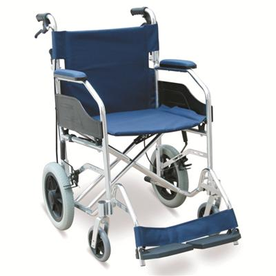 #JL832LABJ – 23 lbs. Ultralight Transport Wheelchair With Drop Back Handles With Brake, 12