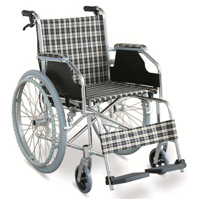 #JL869LXJ – 29 lbs. Simple Ultralight Wheelchair With Handle Brakes & Dual Cross Brace