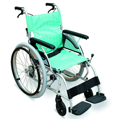 #JL1003LAJ – 27 lbs. Japanese-Style Ultralight Wheelchair With Flip Back Armrests,  Drop Back Handles With Brakes