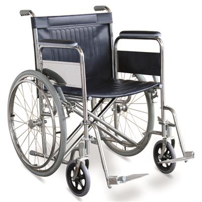 #JL975-51 – Height Strength Manual Wheelchair With 20 Wide Seat, Dual Cross Brace & Detachable Armrests & Footrests