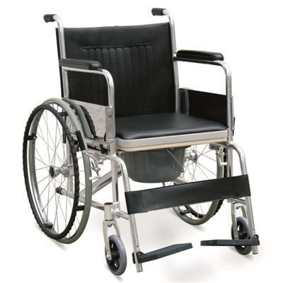 #JL609L – Lightweight Aluminium Commode Wheelchair With 18 Wide Seat