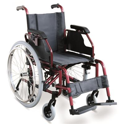 #JL957LQ – 37 lbs. Lightweight Wheelchair With Height Adjustable Armrests & Detachable Footrests & Quick Release Rear Wheels